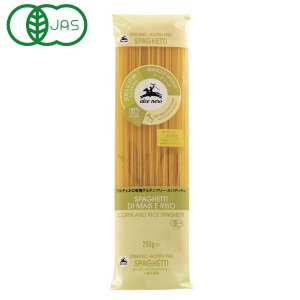 原材料はイタリアで有機栽培したとうもろこしと米を使用。通常のパスタ同様に調理できます。穀物の甘さがほ...