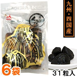 熟成黒にんにく くろまる(31粒(120g以上)) 6袋セット MOMIKI|shizenkan