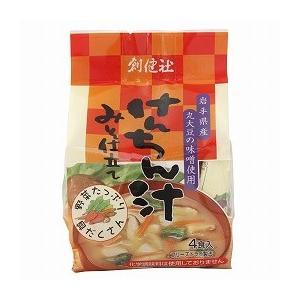 けんちん汁 みそ仕立て(フリーズドライ)(10g×4袋) 創健社|shizenkan