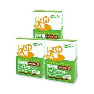 災害用トイレセット エコレット30(10回分×3箱セット) エコワン|shizenkan