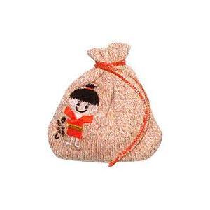 ざしきわらし金運袋 ショート オレンジラメ 杉山ニット工業|shizenkan