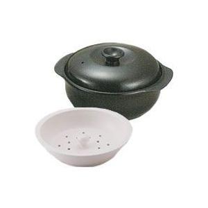 IH対応型 トーセラム鍋24cm セラミック製蒸し器付 R-90IH-B トーセラム 在庫限り|shizenkan
