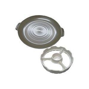 温度センサー付きガスコンロ用 直火用焼き台・焼き陶板セット 白 TSG-0001aw トーセラム 在庫限り|shizenkan