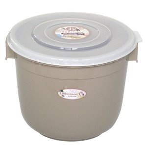 エンバランス 鮮度保持容器 丸型 ジニアルベージュ(6L) ウィルマックス|shizenkan