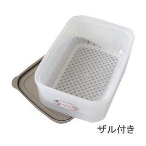 エンバランス 鮮度保持容器 角型 ジニアルベージュ(ザル付き)(2100ml) ウィルマックス|shizenkan