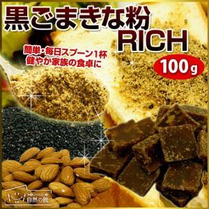 送料無料 きな粉 黒ごまきな粉 RICH お試し きなこ 100g 300ポイント消化 大豆 特集
