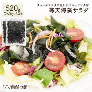 送料無料 寒天 メガ盛り 寒天海藻サラダ 2袋セット メガ盛520g(260g×2)  湯戻し 簡単 まとめ買い ダイエット 業務用|shizennoyakata