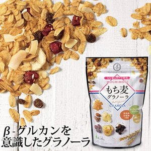 グラノーラ もち麦グラノーラ 200g 約5食分 送料無料 もち麦コーンフレーク 食物繊維 βグルカン ダイエット 健康 朝食|shizennoyakata