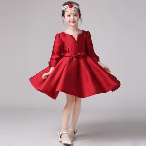 子供 ドレス 女の子 130 フォーマル レッド かわいい エレガント 上質 プリンセス お姫様 ドレス 綿 子供服 女の子 発表会 結婚式 パーティー ガールズ|shizenshop