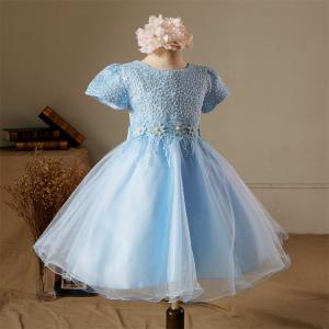 子供 半袖 可愛い ドレス キッズドレス ワンピース 女の子 ガールズ フォーマル プリンセスドレス お姫様ドレス 結婚式 発表会|shizenshop