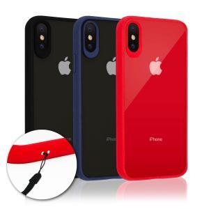 iPhoneXS Max X ケース 耐衝撃 ハイブリット 高透明 背面PC + 脱着簡単 TPUケース ストラップ付 アイフォンXS Max X ケース iPhone X XS マックス カバー 全3色|shizukawill