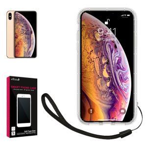Apple iPhone Xs Max 専用 クリア ケース カバー TPU ケース ソフト ケース 耐衝撃 透明 衝撃吸収 ストラップホール ストラップ付 iPhoneXs Max スマホ ケース|shizukawill