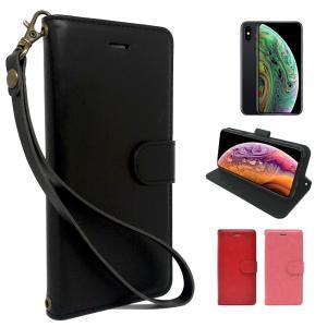 iPhoneXS X 手帳型 PUレザー シンプル iphone xs x ケース カバー ビンテージストラップ付 カード収納あり アイフォンXS ケース アイフォンX ケース 全3色|shizukawill