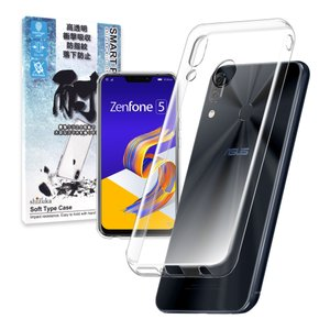 ASUS Zenfone 5 ZE620KL ケース TPU 高透明 耐衝撃 衝撃吸収 ストラップ付...