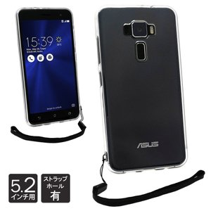ASUS ZenFone3 ZE520KL 5.2インチ 専用 クリア ケース カバー TPU ケース ソフト ケース 高透明 耐衝撃 背面カメラ保護 落下防止 ストラップホール ZE520KL shizukawill
