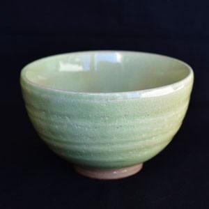 「森川緑粉引き抹茶茶碗」抹茶碗 (茶器 茶道 茶道具 器 抹茶茶碗)お茶の葉桐|shizuokahagiricha