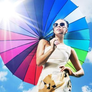 レディース 傘 レインボー アンブレラ 高級 お洒落 ファッション|sho-bai