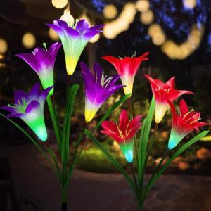 ソーラーライト 屋外 おしゃれ ガーデンライト 花 太陽光 イルミネーション sho-bai