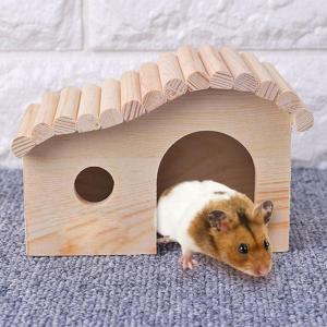 ハムスター 家 ケージ ハウス 小動物 木製