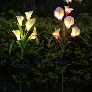 ソーラーライト 屋外 おしゃれ ガーデンライト led 花 ガーデニング sho-bai