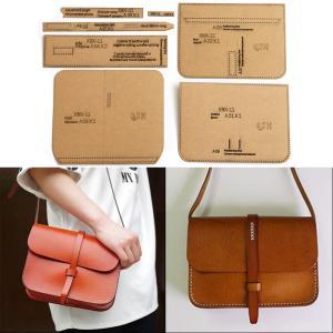 レザークラフト 型紙 ショルダーバッグ ハンドバッグ レディース 鞄 道具