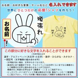 名入れ 頑張れ!(A)Tシャツ 大きいサイズXXL・XXXL 頑張る方に 応援メッセージ  必勝 受験 試験  運動会 体育祭 クラスTシャツ ウサギ ゆるキャラ プレゼント|sho-koma|02