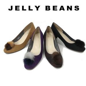 ジェリービーンズ JELLY BEANS パンプス ファー ダブル レディース 4517-120-300-660-999|shobido