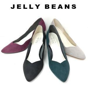 ジェリービーンズ JELLY BEANS スカラップカット パンプス レディース 6154-120-500-670-440|shobido
