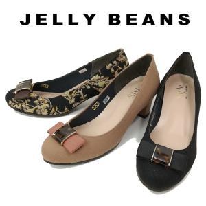 ジェリービーンズ JELLY BEANS リボン パンプス べっ甲 レディース 8172-070-100-800|shobido