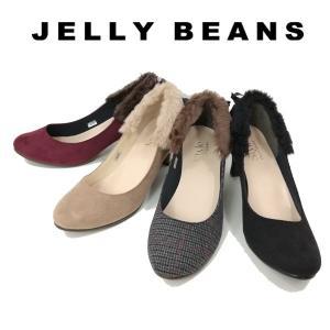ジェリービーンズ JELLY BEANS バックファー パンプス レディース 9009-120-440-800-999|shobido