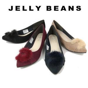 ジェリービーンズ JELLY BEANS パンプス ファー バックル レディース 3532-120-440-610-800|shobido