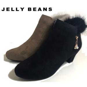 ジェリービーンズ JELLY BEANS ミンクファー ショートブーツ レディース 2336-120-770|shobido