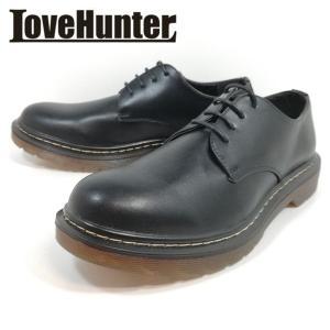 カジュアルシューズ ラブハンター 靴 バウンシングソール ブラック メンズ 1706|shobido