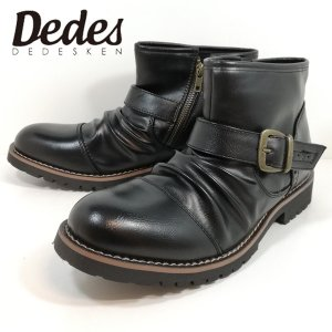エンジニア ブーツ デデス カジュアルシューズ ショートブーツ ブラック メンズ 5111|shobido