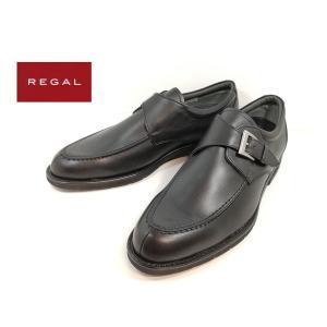 リーガル REGAL 100ブラック 靴 ビジネスシューズ モンクストラップ メンズ 034NR|shobido