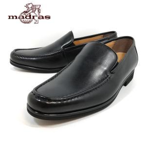 マドラス ブラック本革 モデロヴィータ メンズビジネスシューズ ビジネス靴 革靴 紳士靴 スリッポン VT5689 3E shobido