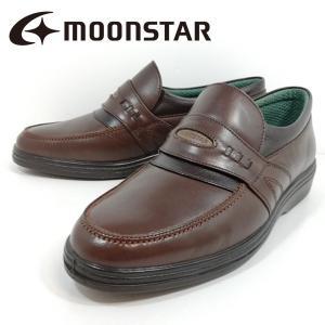 スポルス ムーンスター 紳士靴 カジュアル ビジネス ブラウン 4642-202 3E shobido