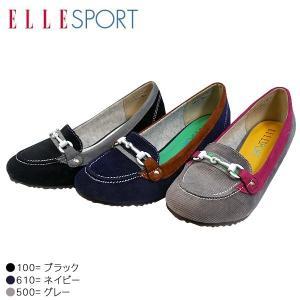 ELLE SPORT エルスポーツ 10593-100-500-610 ウェッジ パンプス スリッポン レディース|shobido