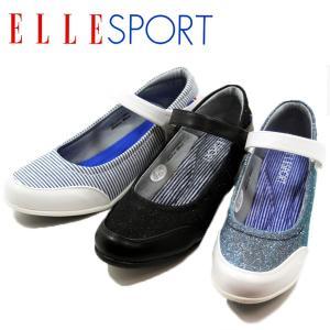 ELLE SPORT エルスポーツ 10890-100-600-906 ベルト パンプス ローヒール レディース|shobido
