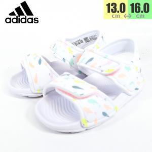 アディダス adidas アルタスイム キッズ サンダル ホワイト 靴 F34793|shobido