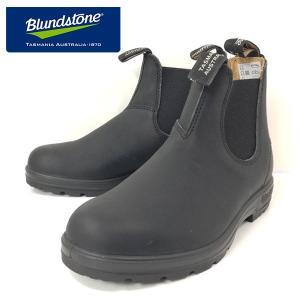 ブランドストーン サイドゴア ブーツ ワーク スムースレザー ブラック 靴 レディース 558089-100|shobido
