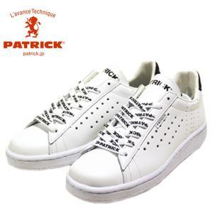 パトリック PATRICK ケベック ロゴ ホワイト 靴 メンズ 531060-900|shobido