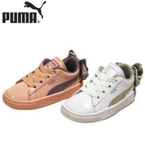 プーマ PUMA バスケット ボウ ドッツ インファント 靴 子供 368982-02-03 shobido