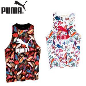 プーマ PUMA クラシックス 総柄 タンクトップ 靴 レディース 579181-01-52|shobido