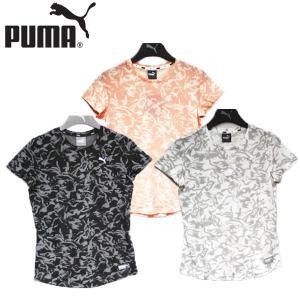プーマ PUMA フュージョン 総柄 ショートスリーブ ティーシャツ 靴 レディース 844092-01-02-19|shobido