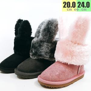 ウサギ ブーツ ムートン ウサミミ 靴 子供 7706|shobido