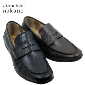 hiromichi nakano ヒロミチナカノ 183H-100-200 牛革 ローファー ドライビングシューズ風ソール メンズ|shobido