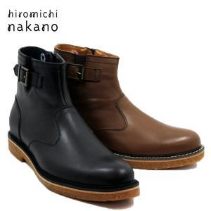 hiromichi nakano ヒロミチナカノ 185H-100-200 牛革 ファスナー付きブーツ メンズ|shobido