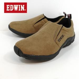 エドウィン ベージュ カジュアル ふかふかインソール スリッポン モックシューズ ドライビングシューズ 靴 メンズ 7031-800|shobido