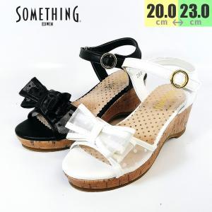 サムシング サンダル 女の子 シースルー 靴 子供 3087|shobido